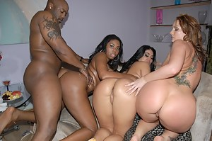 Thick ass gangbang