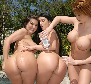 Girl with giant dildo